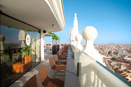 Terraza exterior Hotel Riu
