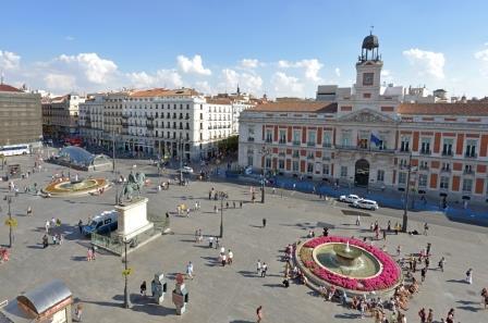 Vista aérea de la Puerta del Sol