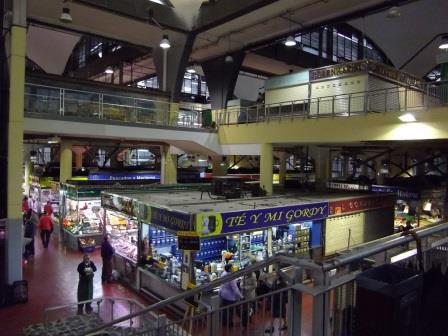 Interior del Mercado de La Cebada