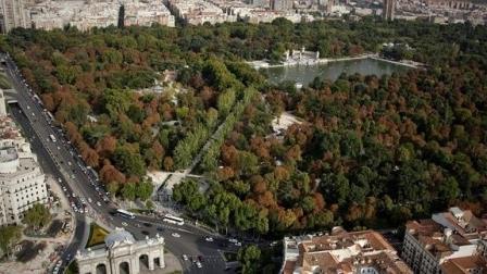 Vista aérea del Parque de El Retiro