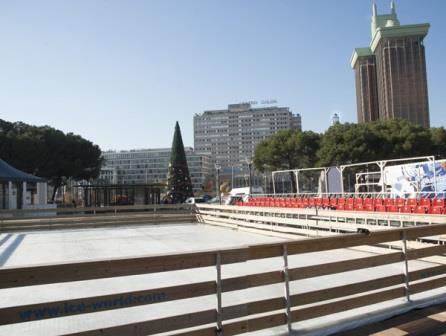 Pista de hielo de la Plaza Colón